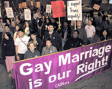 Civil rights for same sex marriage