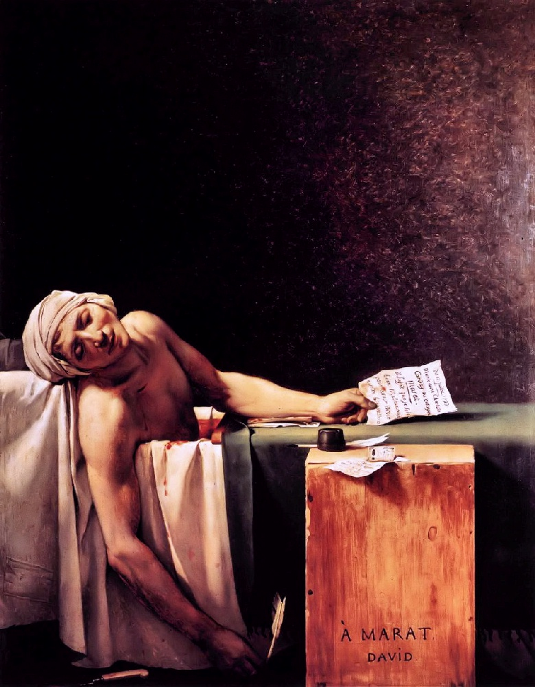 Jacques-Louis David - The Death of Marat - 1793